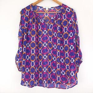 Miami cold shoulder pop over 3/4 sleeve blouse med